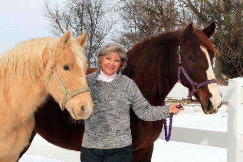 TSB author Eunice Rush and her horses.