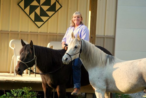 TSB Marry Morrow and her horses.