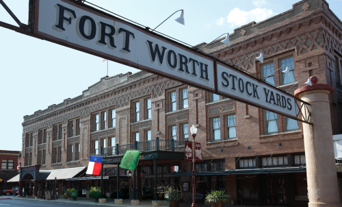 The legendary Stockyards Hotel in Fort Worth.