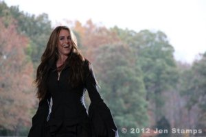 Singer/songwriter Templeton Thompson during the filming of her new music video.