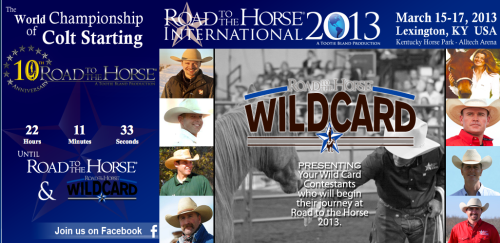 "Sean Patrick, author of THE MODERN HORSEMAN'S COUNTDOWN TO BROKE, is a ""Wild Card"" Competitor at Road to the Horse"