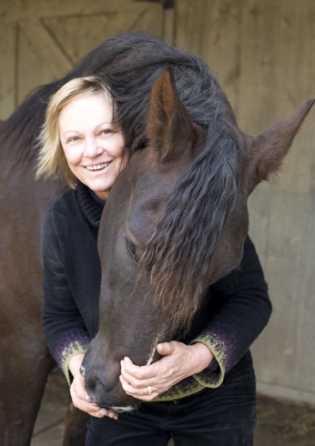 TSB author Laura Chester and her horse Barranca.
