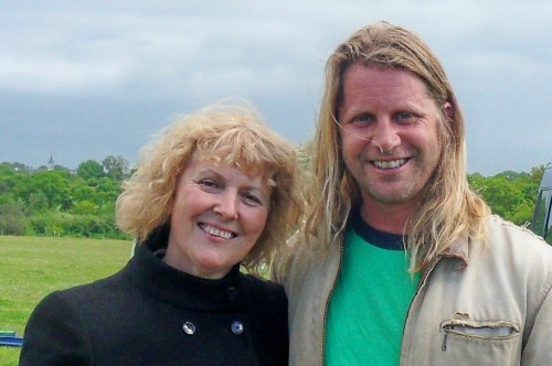 Claudine Pelletier-Milet, author of RIDING ON THE AUTISM SPECTRUM, with Rupert Isaacson, author of THE HORSE BOY.