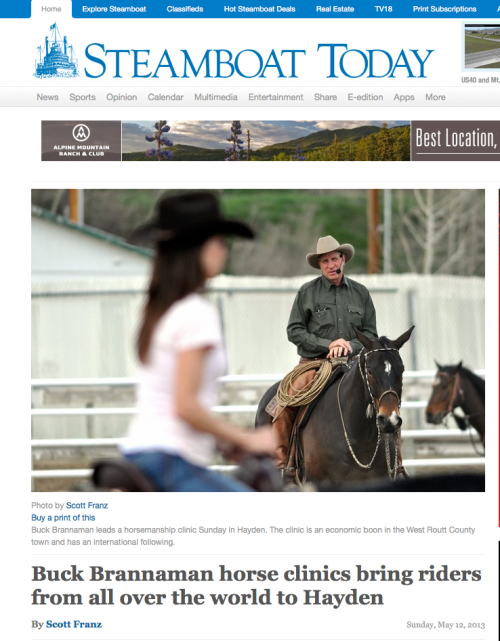 We're lucky to have Vanessa Bee reporting back from this fabulous Buck clinic experience!
