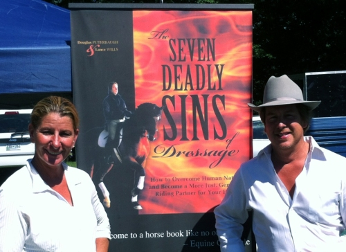 FEI dressage trainer/rider Yvonne Barteau with Douglas Puterbaugh, author of THE SEVEN DEADLY SINS OF DRESSAGE.