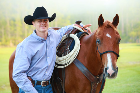 TSB author Sean Patrick and his Road to the Horse Wild Card colt Joker.