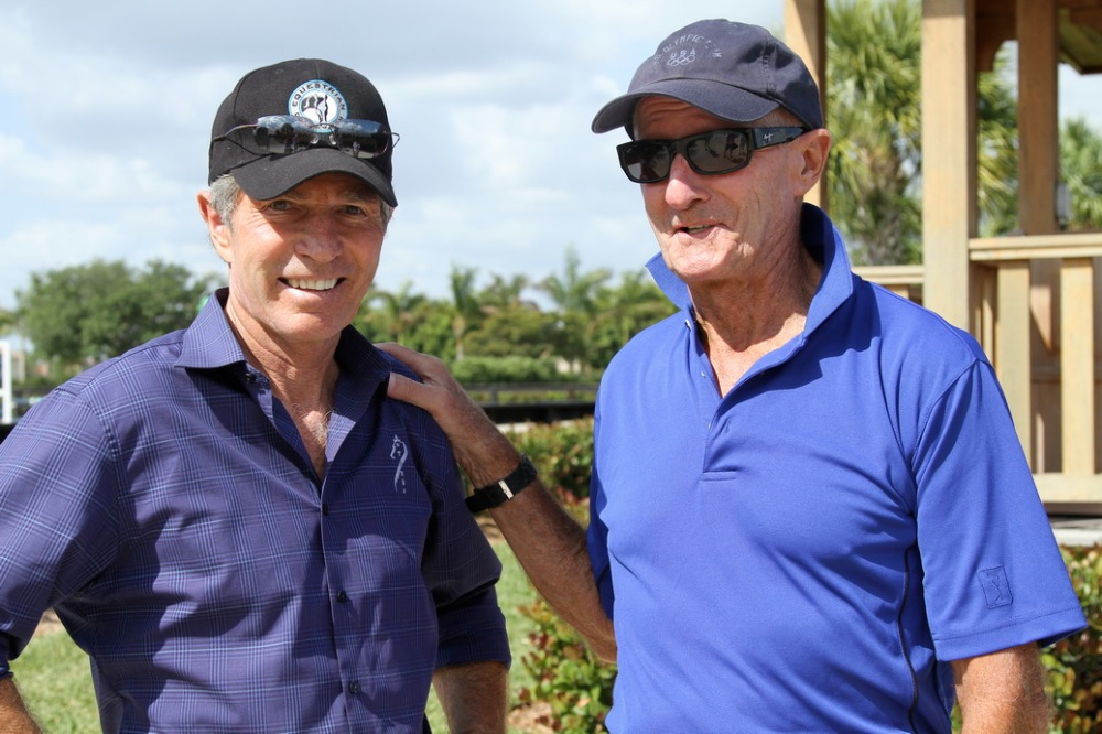 Bernie with his good friend, former US Show Jumping Chef d'Equipe George Morris.