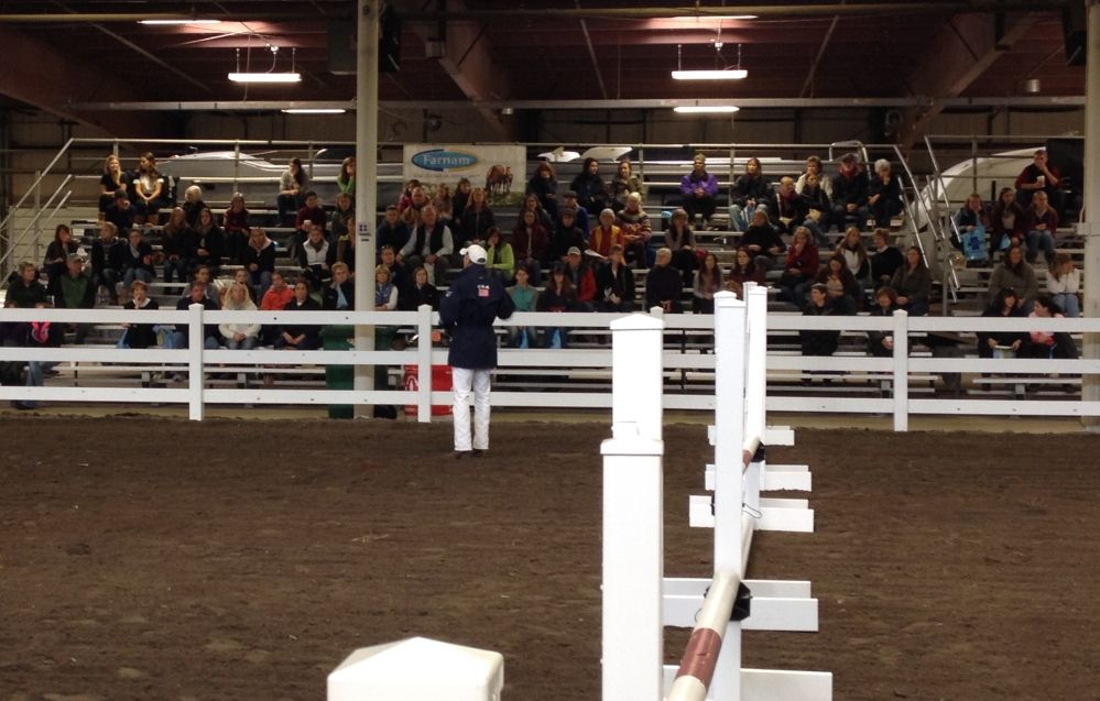 Daniel teaches to an enthusiastic crowd at Equine Affaire in Springfield, MA.