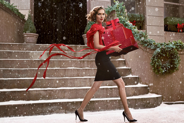 Arizona Muse in a 2013 Estee Lauder Holiday Ad.
