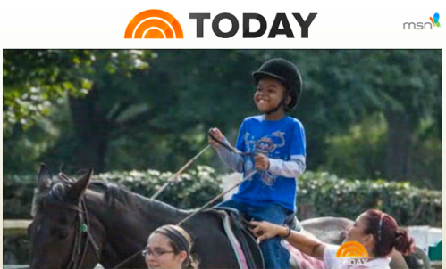Click the image above to watch the TODAY feature about what horses can do for children with autism.