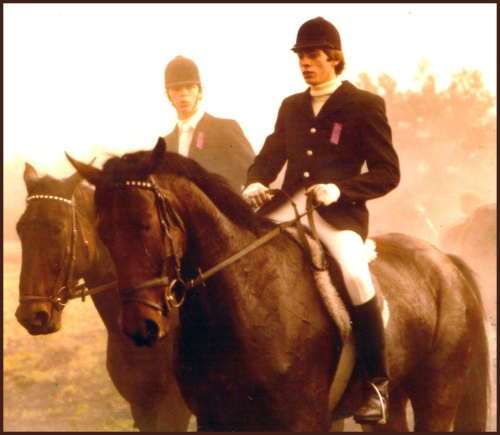 Jochen in Pony Club in his early riding days.
