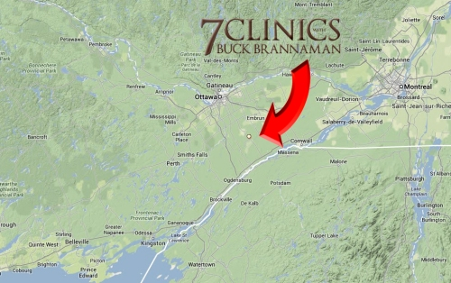 The small town of Winchester, Ontario, Canada, hosted a special screening of Discs 1 & 2 from the 7 CLINICS WITH BUCK BRANNAMAN DVD series.