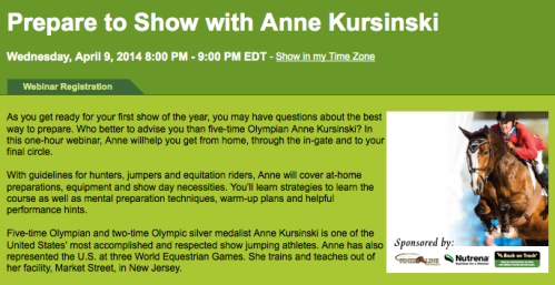 Click the image above to register for the FREE webinar with Anne Kursinski!
