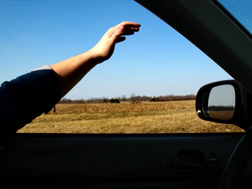 Help yourself visualize the wind by first sticking your hand out the car window to see what it feels like.