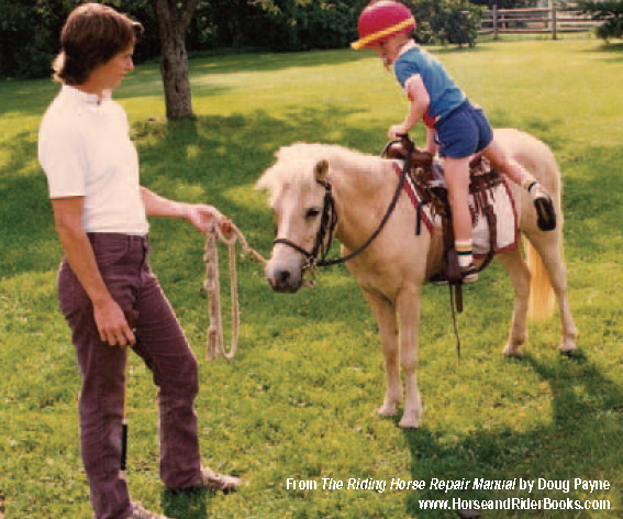 """Doug Payne grew up in a very horsey family. Here he is with his mom and """"Popcorn."""""""