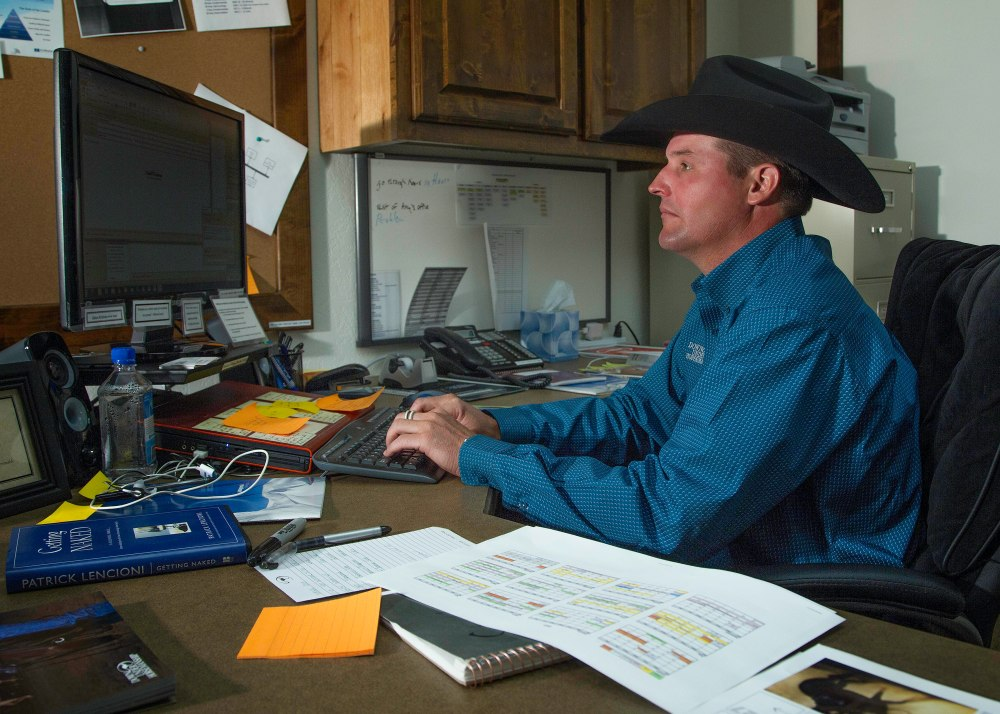 A big part of Clinton Anderson's time in the office is spent replying to email!