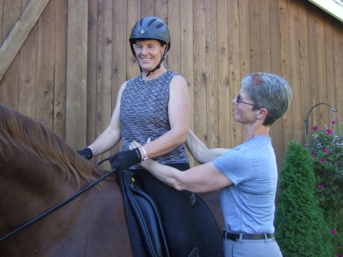 Dr. Beth Glosten, author of THE RIDING DOCTOR, with a student.