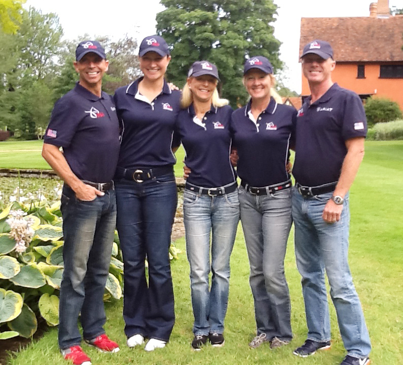 Anne with the 2012 Olympic Dressage Team. Photo courtesy Anne Gribbons.