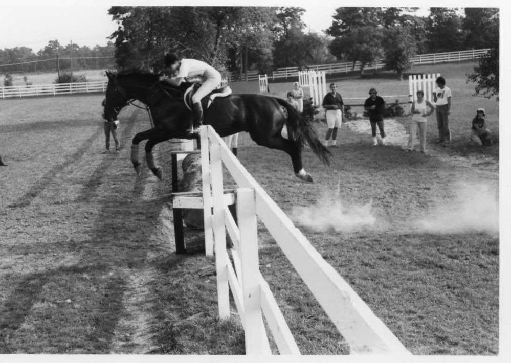 Anne Gribbons' riding career began over fences. Photo courtesy Anne Gribbons.