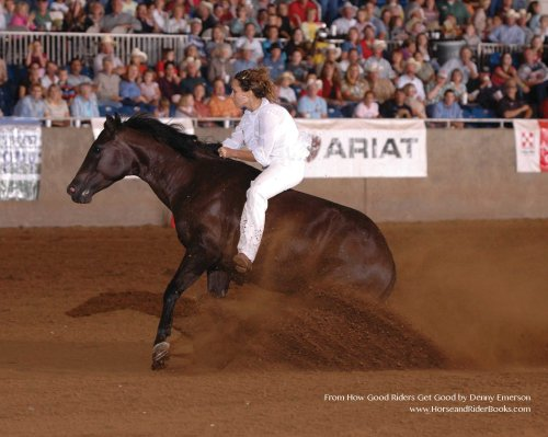 Stacy Westfall on Roxy. Photo courtesy of Stacy Westfall from HOW GOOD RIDERS GET GOOD.