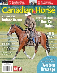 Jonathan Field was on the cover of the May 2014 issue of Canadian Horse Journal.