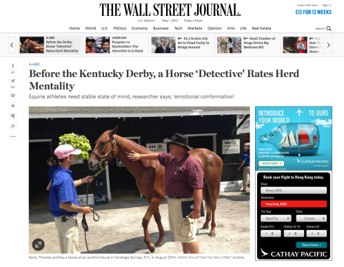 Click image to read the article about TSB author Kerry Thomas in the Wall Street Journal.