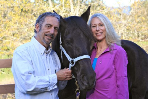 Susan Gordon and Dr. Allen Schoen, coauthors of THE COMPASSIONATE EQUESTRIAN.
