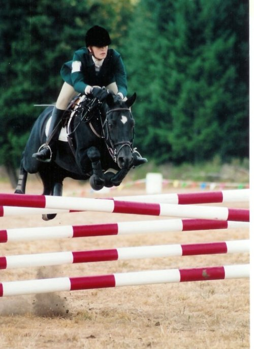 Kelsey at 18 going Prelim on her Morgan mare Inavale Fairy Tale in 2005.