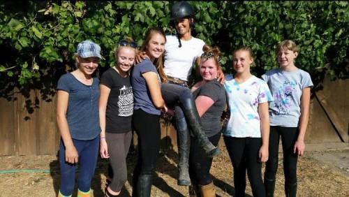 Future perfect positions to the left and to the right! Kelsey with her students in 2015.
