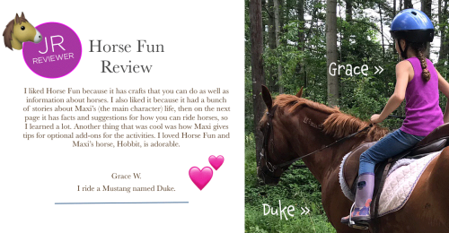 Horse Fun Book Review Girl on Mustang