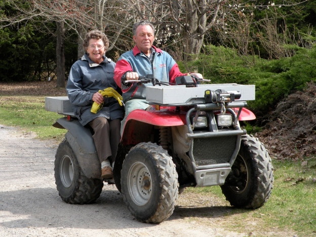 Jean's mum Shirley and dad Sandy, 65 years married and farmers to the core.